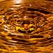 orange water ripples