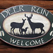 deer run welcome sign