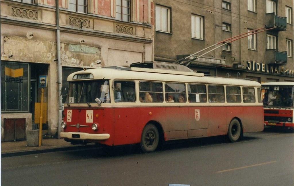 opava skoda tr9 trolleybus 41 march 1992 opava no 41 was flickr