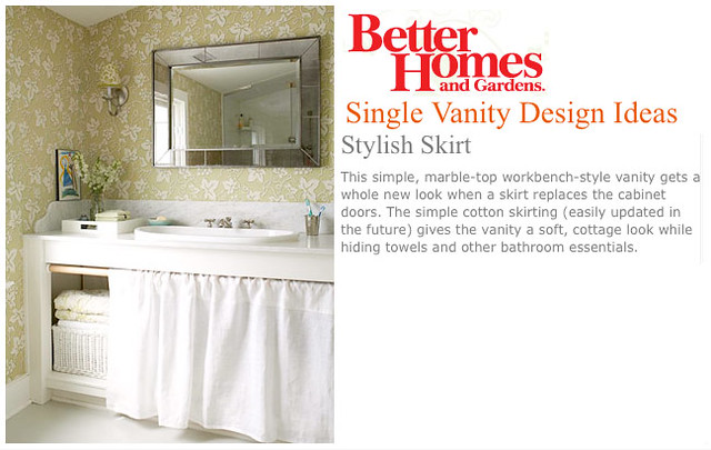 Cabinet Skirt | Bathroom - Cabinet Skirt - BHG | Sarah Haley | Flickr