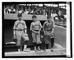 [Three baseball players (boys) wearing Cleveland uniforms] (LOC) | by The Library of Congress