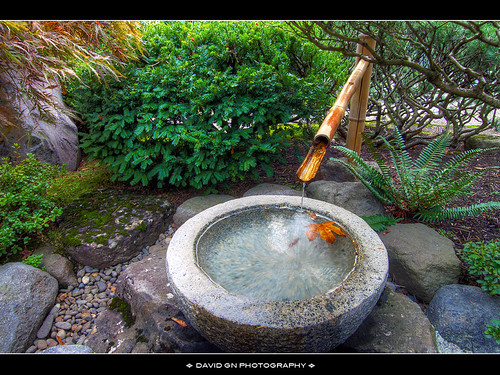 Kakehi bamboo fountain in portland japanese garden flickr for Japanese water feature