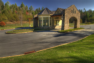 The main entrance to The Coves at Round Mountain | by The Coves Mountain River Club