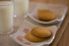 peanut butter cookies and milk | by MOONSTITCHES mangetsu
