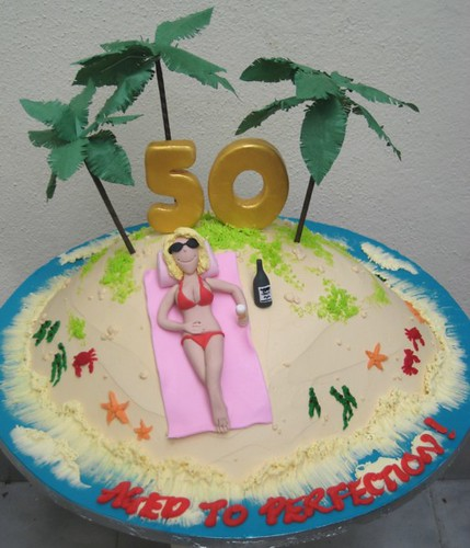50th birthday a 50th birthday cake for a lady who always ...
