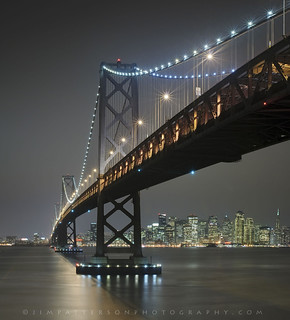City at Night - San Francisco Bay Bridge, California | by Jim Patterson Photography