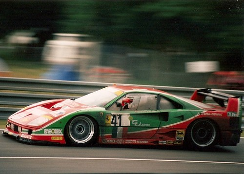 Ferrari F40 Gte Le Mans 1995 Going Through Indianapolis