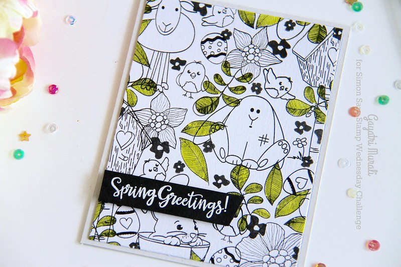 Spring Greetings card closeup1