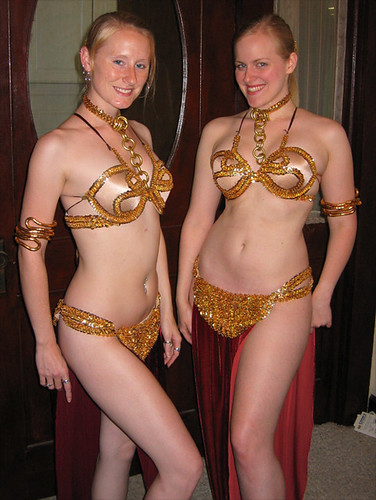 Danielle And I Sportin Our Slave Leia Costumes Two