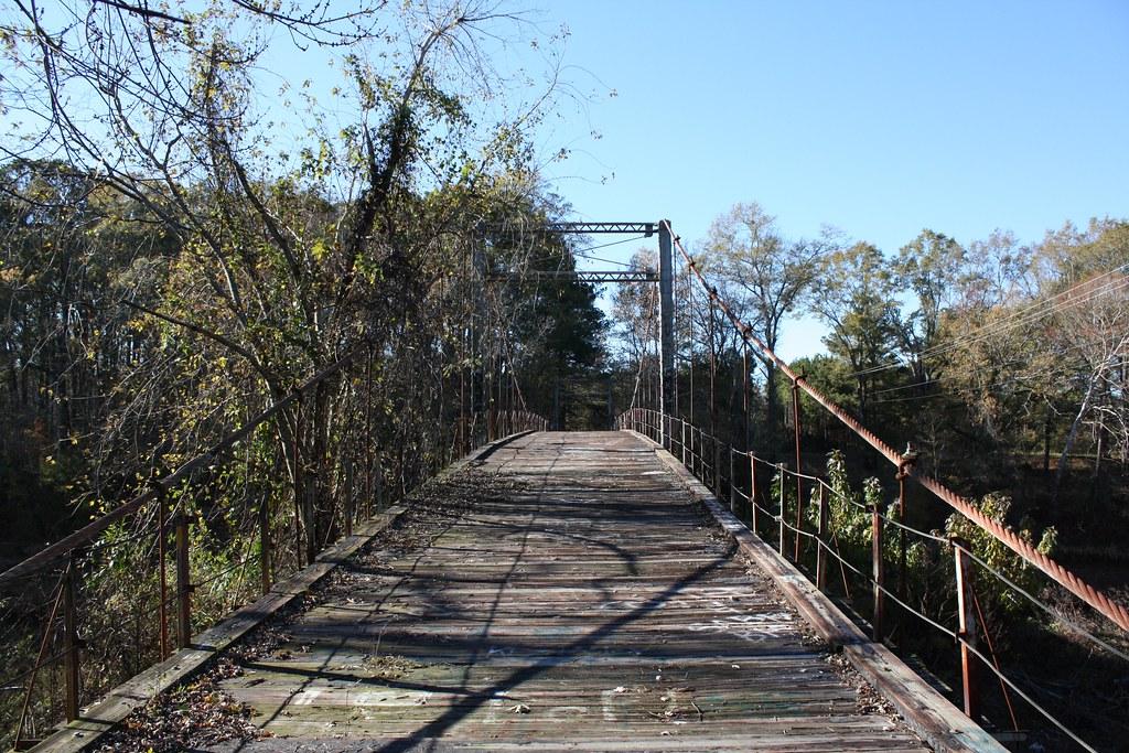 byram swinging bridge historic 1905 wire suspension