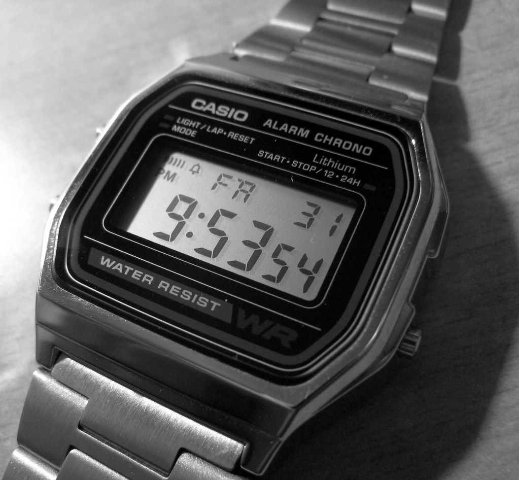 Casio A 158 Alarm Chrono   Got this Casio A158 wrist watch ...