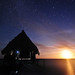The Moon Rising Over the Sea, Our Hut Under the Stars.