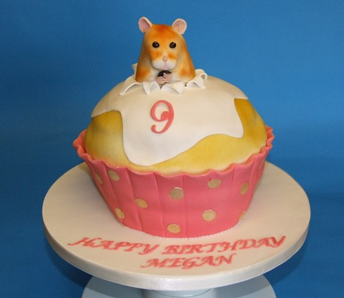 Hamster In The Cake Fondant Covered Sponge Cake For A