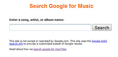 fake Google music search | by uscmusiclibrary