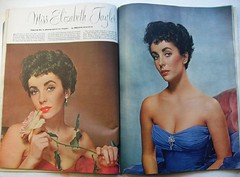 ESQUIRE MAGAZINE February 1952 ELIZABETH TAYLOR spread photos vintage illustration cover | by Christian Montone