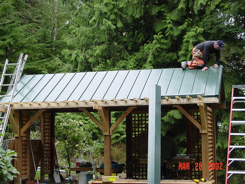 Metal Roofing On Small Arbor Ongoing Rainier View