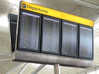 Departure announcements at Stanstead | by Karl-Martin Skontorp