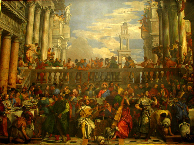 the wedding feast at cana painted in 1563 oil on canvas