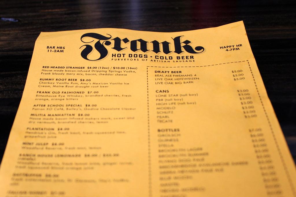 Frank drink menu megan myers flickr for Table 52 drink menu