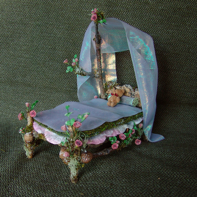 ... Miniature Fairy Bed with Roses | by Torisaur