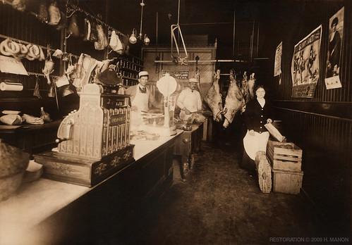 1912 Pennsylvania Butcher Shop H A June Meat Market P