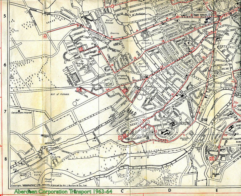 Aberdeen Corporation Transport 196364 timetable map botto Flickr