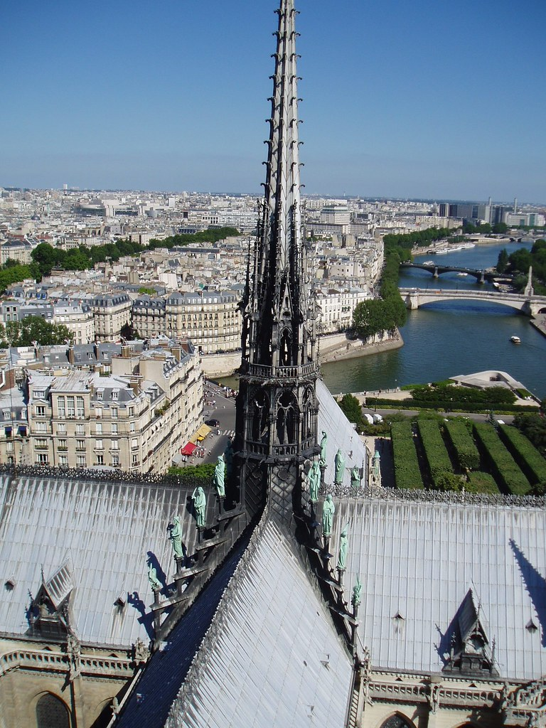 Central Spire Of Notre Dame View From The Roof Of The