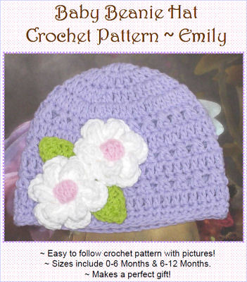 Baby Beanie Hat Crochet Pattern Purchase This Pattern At Flickr