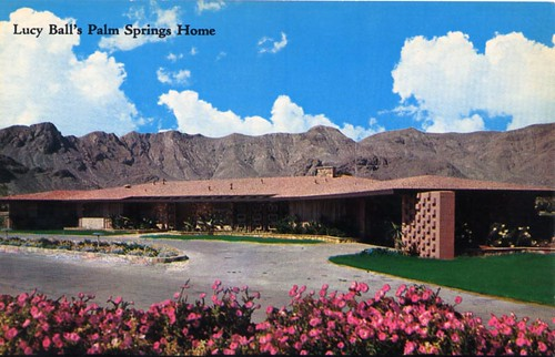 Lucy ball 39 s palm springs home located atop a knoll and for The lucy house palm springs