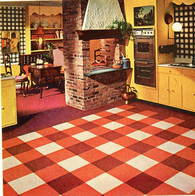 1967 Ozite carpet tiles Kitchen | Ethan | Flickr
