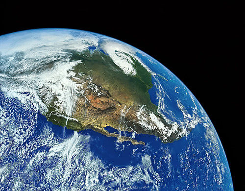 "Earth and North America from Space - digitally restored | by IronRodArt - Royce Bair (""Star Shooter"")"