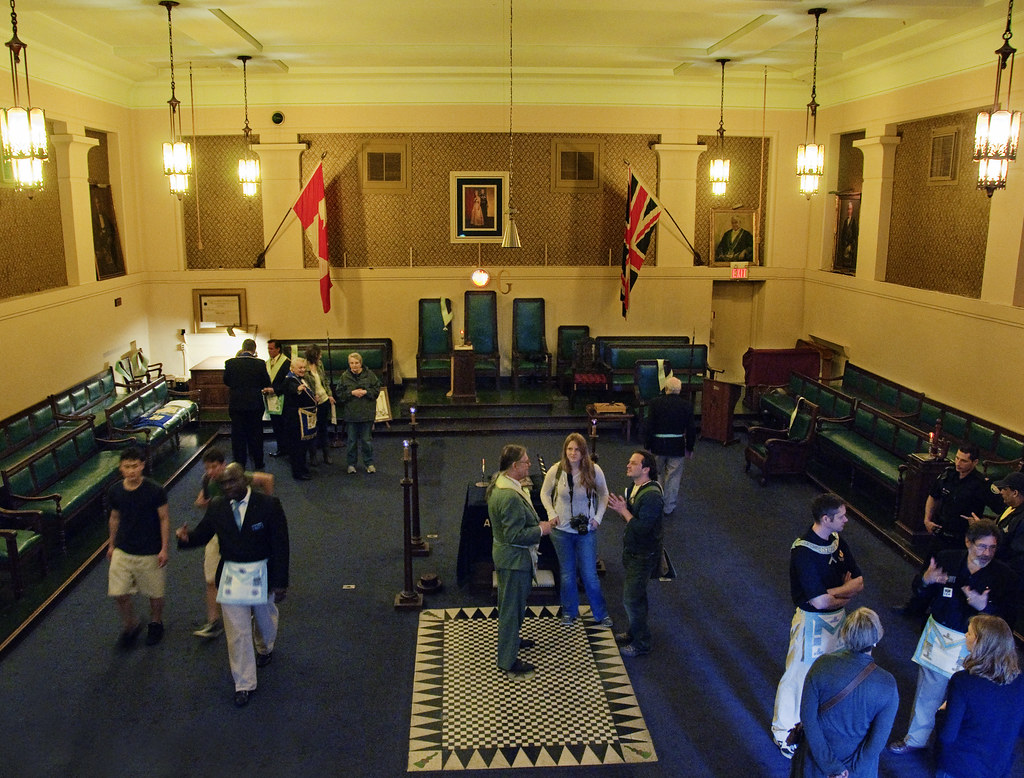East Toronto Masonic Temple Large Lodge Room Doors Open
