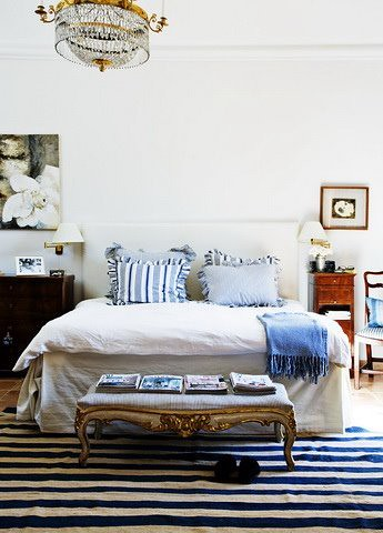... Morten Holtum {blue and white scandinavian vintage modern bedroom} | by  recent settlers