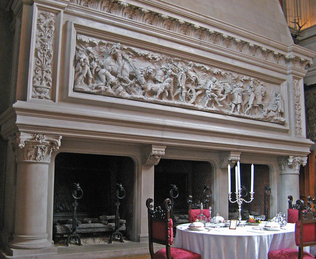 dining room fireplace biltmore mansion asheville north carolina by ron gunzburger - The Dining Room Biltmore