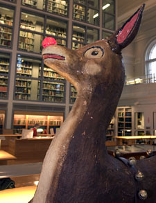 Paper Mache Rudolph at Dartmouth College | by scotty12869