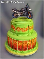 Kawasaki Motorcycle Motorbike Cake Kawasaki Motorcycle