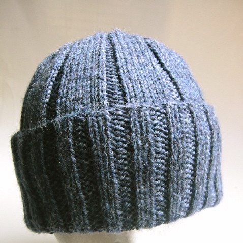 Free Knitting Pattern Hat 10mm Needles : Mans Classic Watch Cap pattern: Classic World War II ...