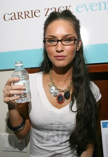 Megan Fox wearing glasses | Megan Fox with Vava Water | Flickr