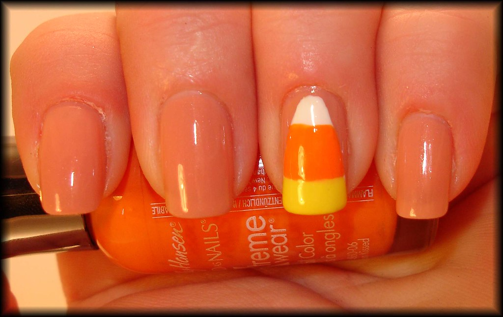 Candy Corn Nail Art Manicuremaniawordpress Manicure Mania