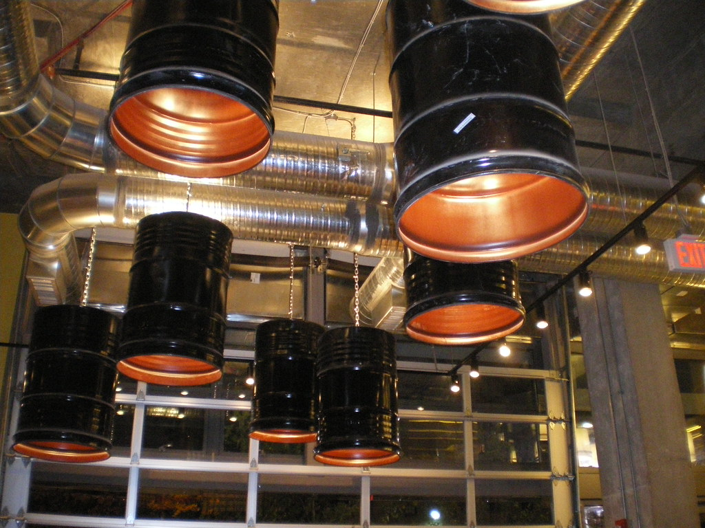 ... Light Fixtures   Repurposed Oil Barrels | By Kimberlywynn