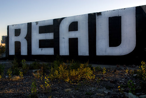 Large sign saying READ at Gowanus, Brooklyn, New York | by jackie weisberg
