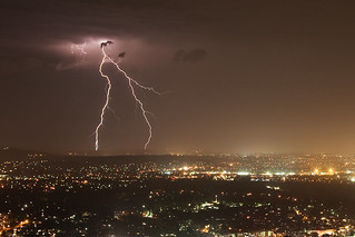 Lightning from Mt Coottha | by obLiterated