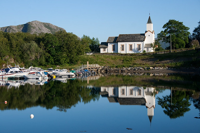church in flatanger  norway