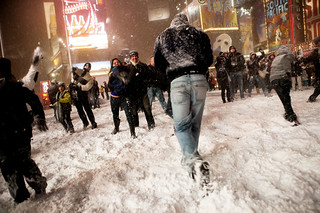 Snowball fight in Times Square, 2009 | by Dan Nguyen @ New York City