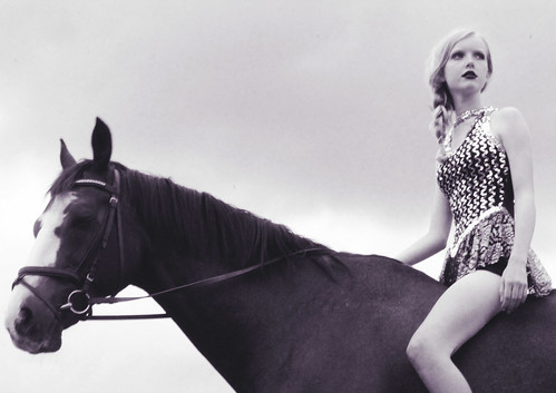 holly in circus leotard with horse | by Eleanor Hardwick
