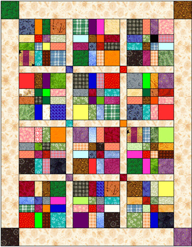 Disappearing 9 Patch Quilt Layout This Quilt Has 12