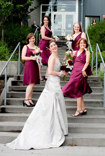 Bride with Maids on steps | by leodirac