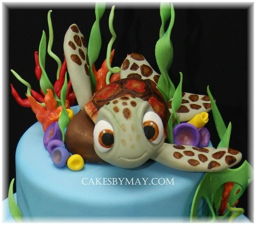 Sea Turtle Love All The Fun Colors On This Cake Sea