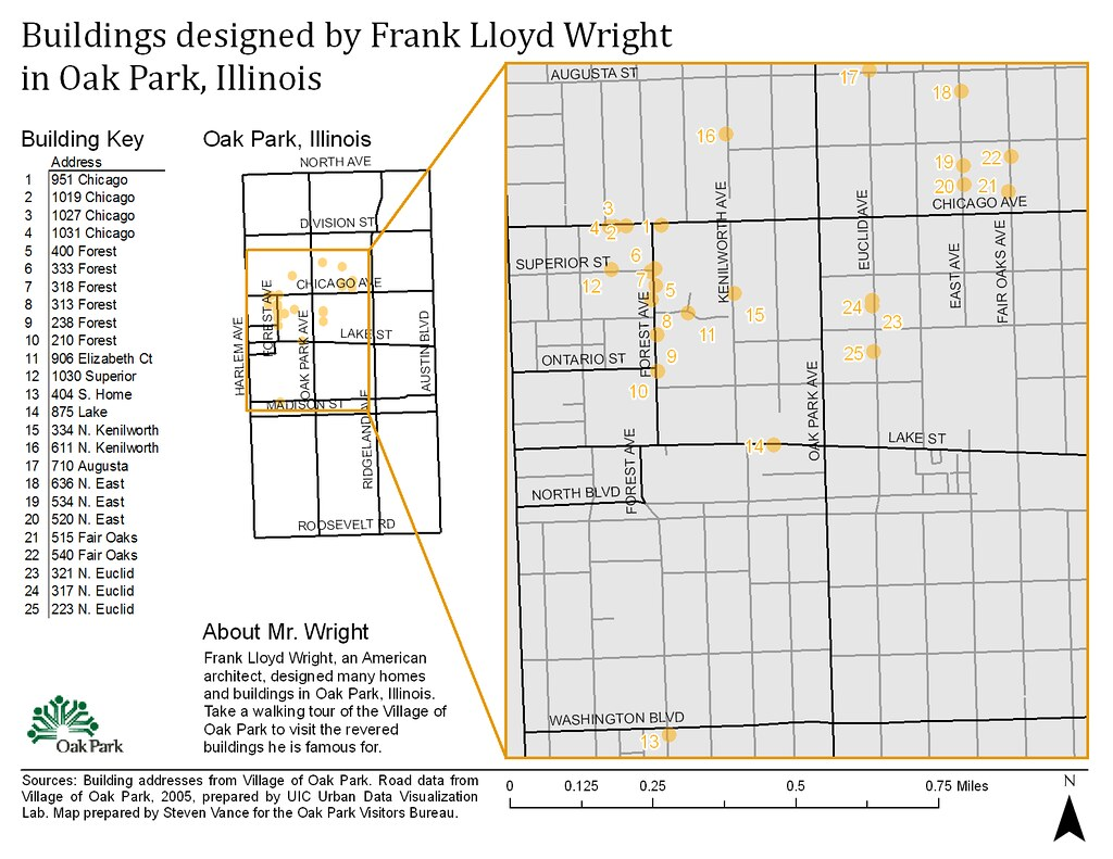 v1 Buildings designed by Frank Lloyd Wright in Oak Park Flickr