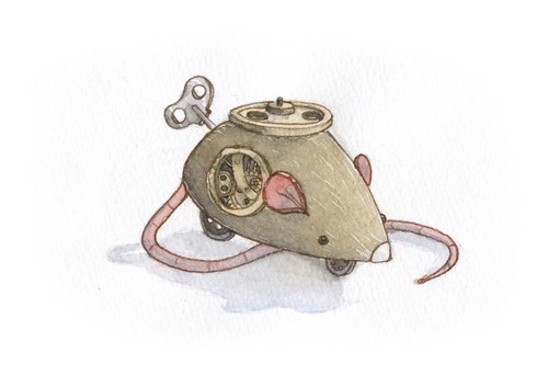 fly wheel clockwork mouse | by (also) Matthew Cook
